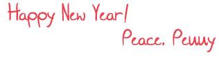 Happy new year, Peace, Penny!
