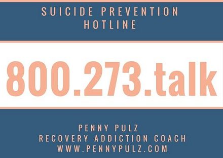 Suicide Prevention Hotline; it'a about recovery
